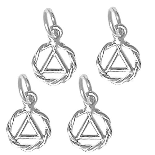 Alcoholics Anonymous Jewelry 1222 Set Of 4 Aa Pendants 330
