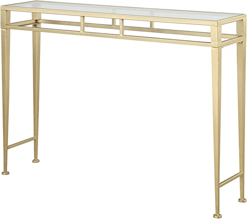 Convenience Concepts Coast Collection Julia Hall Console Table, Gold
