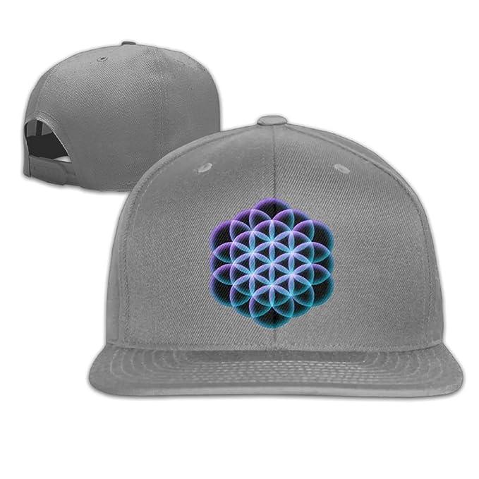 fd16f7491cd VPausy Flower Of Life Mandala Cool falt Hat Adjustable Baseball Cap ...