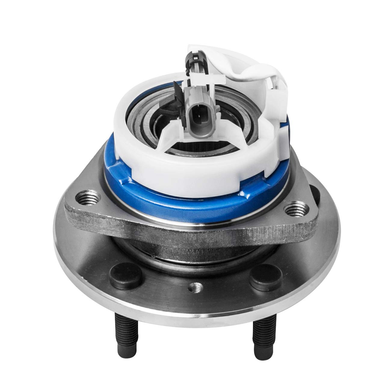 513199 TUCAREST 513179 Front Rear Wheel Bearing and Hub Assembly Compatible With Buick Century Cadillac Deville DTS Chevy Impala Olds Aurora Pontiac Aztek Bonneville Saturn Relay 5 Lug W//ABS