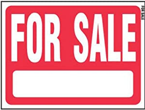 """Hy-Ko RS-604, Red Sale Plastic Lawn Sign, 18"""" by 24"""""""