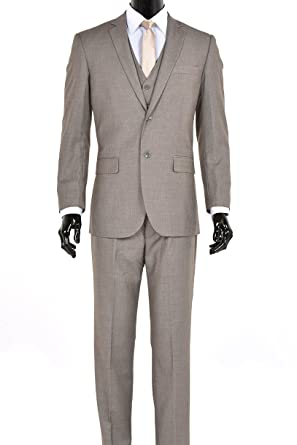 821a86107654 Elegant Men's Modern Fit Three Piece Two Button Suit - Many Colors (34  Short,