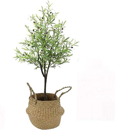 Yipianyun Bambú Cañas Naturales, Elaborados con Los Mejores Materiales, Ideal para Decoración De Hogar Plant Sintética Decorativa con Maceta Casa Jardín Decoración PE: Amazon.es: Deportes y aire libre