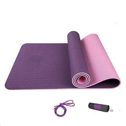 Amazon.com: Loiit Thicken Yoga Mat TPE Exercise Mat Yoga Mat ...