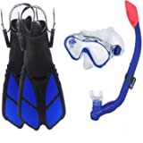 Ertong Children Snorkel Set Kids Scuba Diving Equipment Packages Including Adjustable Swimming Fins/Flippers + Automatic…