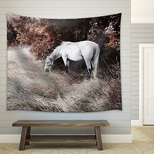 White Horse Fabric Wall
