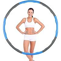 Hoelahoep, hoelahoepel voor volwassenen, fitnessbanden, 6-8 segmenten, hoelahoepel voor gewichtsverlies en massage…