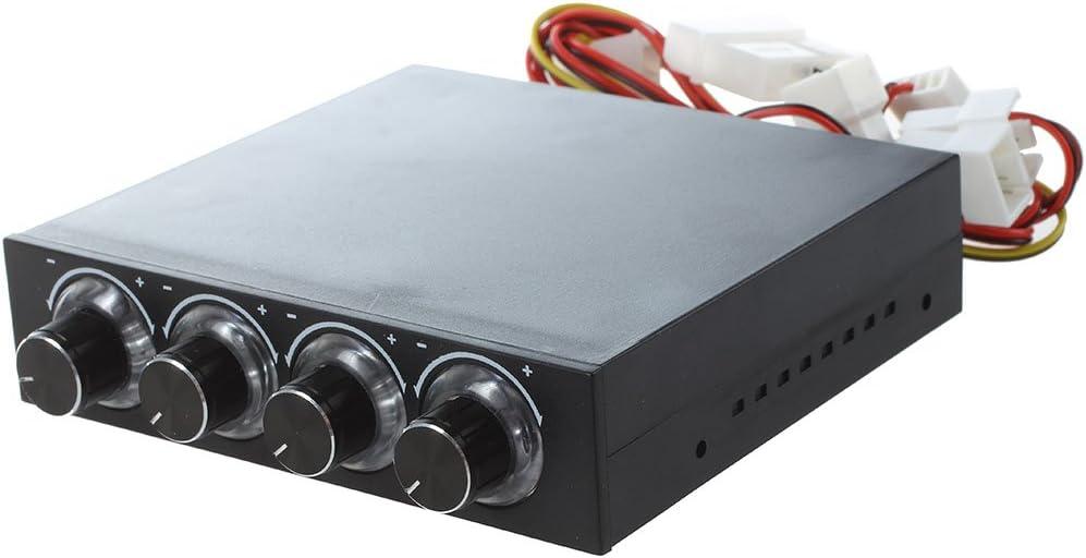 SODIAL(R) Controlador de ventilador de PC LED azul conector de 4 ...