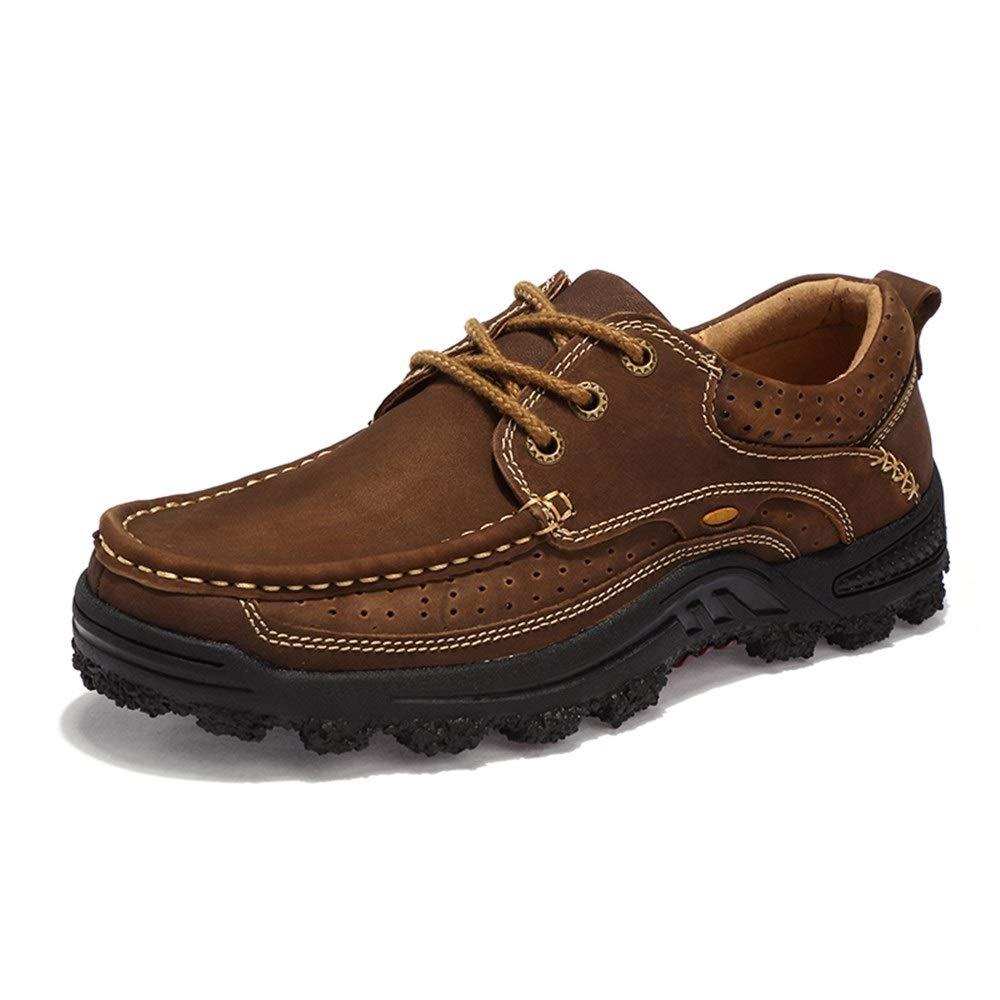 Marron 38 EU KCBYSS Chaussures de randonnée for Hommes Sports de Plein air Chaussures d'escalade à Lacets en Cuir synthétique Creux imperméables (Doubleure Polaire en Option)