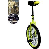 Monocycle Dodo 20 pouces (50cm) JAUNE pour les enfants à partir de 11 ans + DVD offert