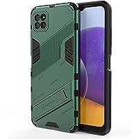 GIOPUEY Etui Pancerne Kompatybilne z Samsung Galaxy A22 5G, Miękki Zderzak z TPU + Ciężko PC Pokrywa z Wspornika, Anty…