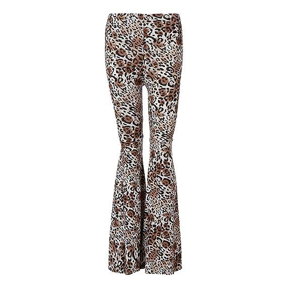 ❤ Pantalones Acampanados para Mujer, Pantalones de Campana de Mujer Pantalones Impresos de Pierna Ancha Absolute: Amazon.es: Ropa y accesorios
