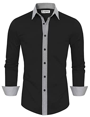 Tom's Ware Mens Casual Slim Fit Contast Lining Button Down Dress ...