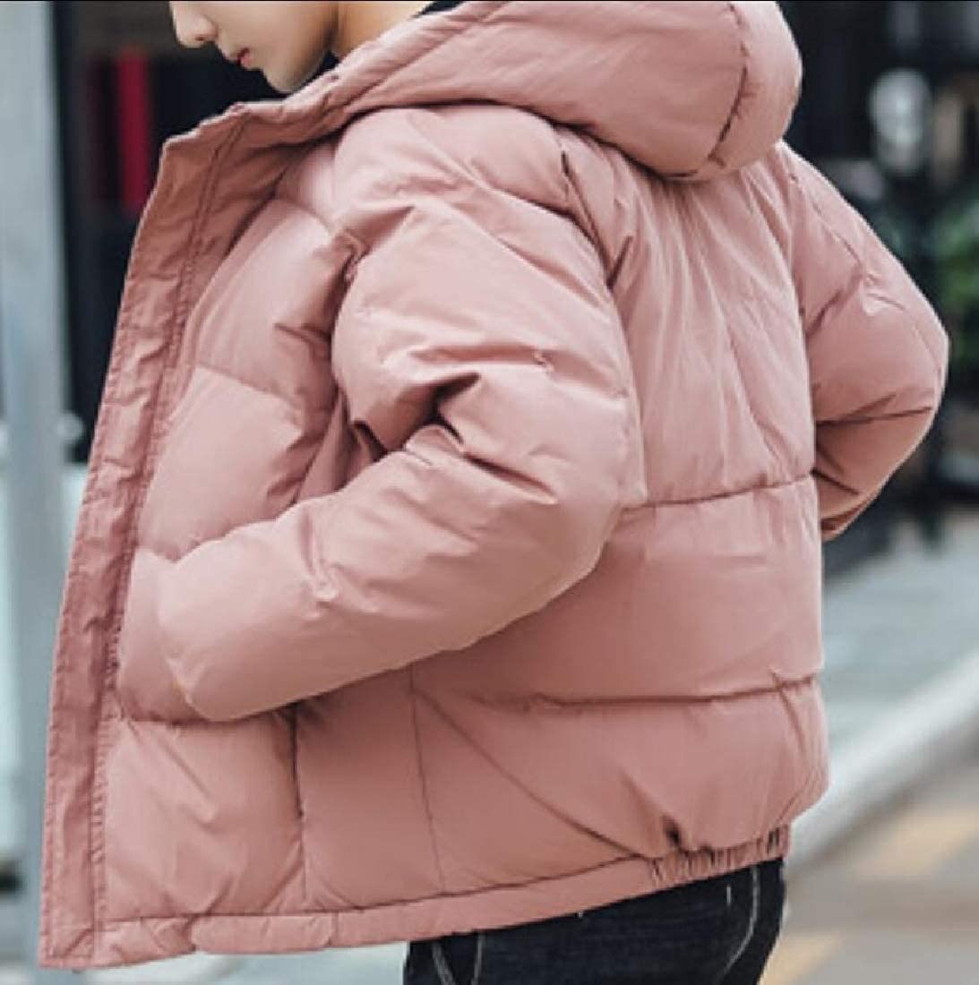 Yayu Mens Winter Hooded Packable Down Puffer Jacket Outdoor Quilted Lightweight Down Coat