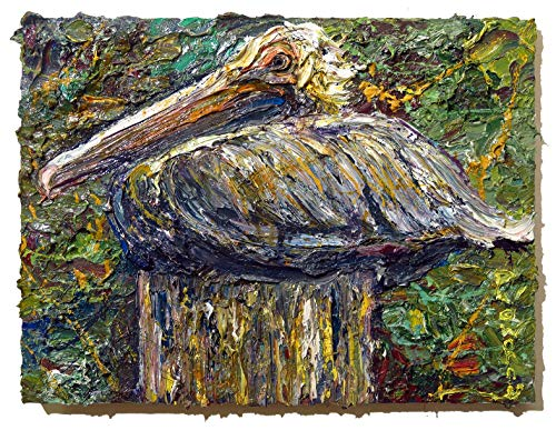 (UNTITLED x1073 - Original oil painting bird)