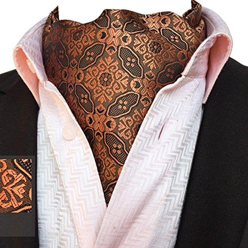 Reversible Scarf YCHENG Floral Jacquard Cravat Mens 05 Brown Tie Plaid Paisley Ljb Neck Elegant Ascot wqzAgT8w