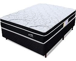 Cama Box Casal Molas Ensacadas Pillow Certificado Sonomar 138x188x55cm - BF Colchõe