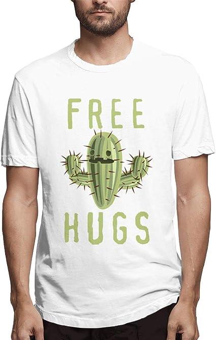 Playera Blanca Basic Hugs Free Cactus Design para Hombre ...