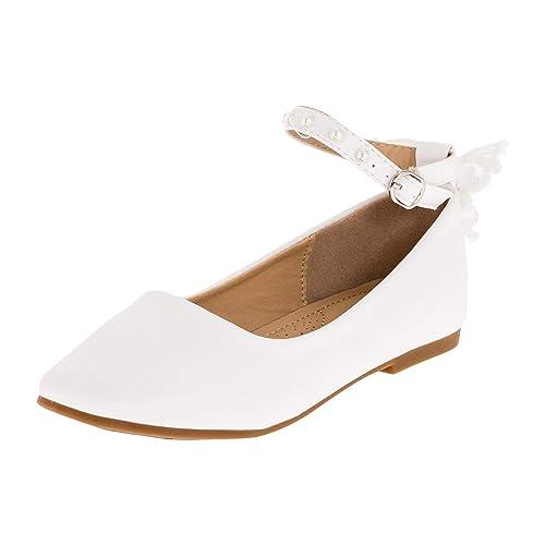 Dorémi Festliche Kinder Mädchen Ballerinas Schuhe für Kommunion Hochzeit Party Freizeit