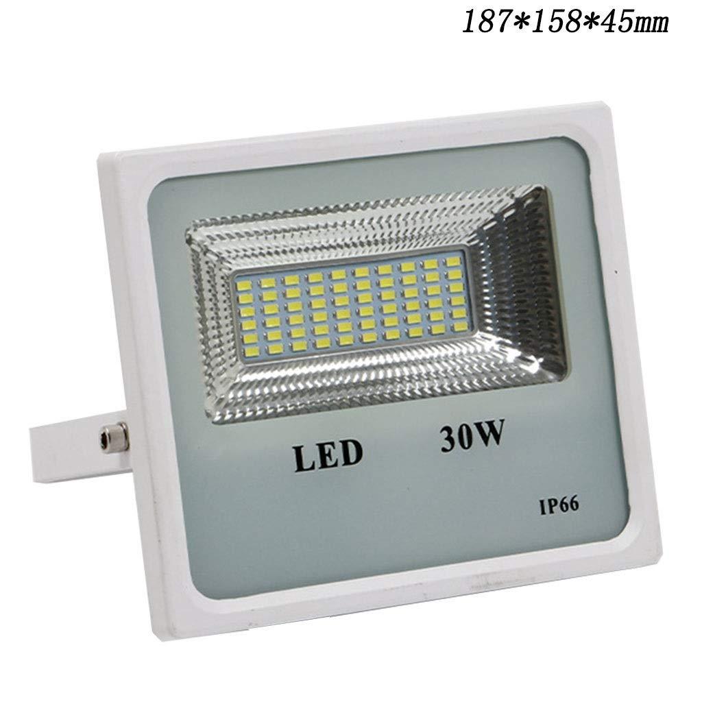 LIGHTZHAO Luce di Inondazione A LED, All'aperto Impermeabile Ad Alta Potenza Tipo di Patch Progetto di Illuminazione Luce di Proiezione (colore   6000K, Dimensioni   30W)