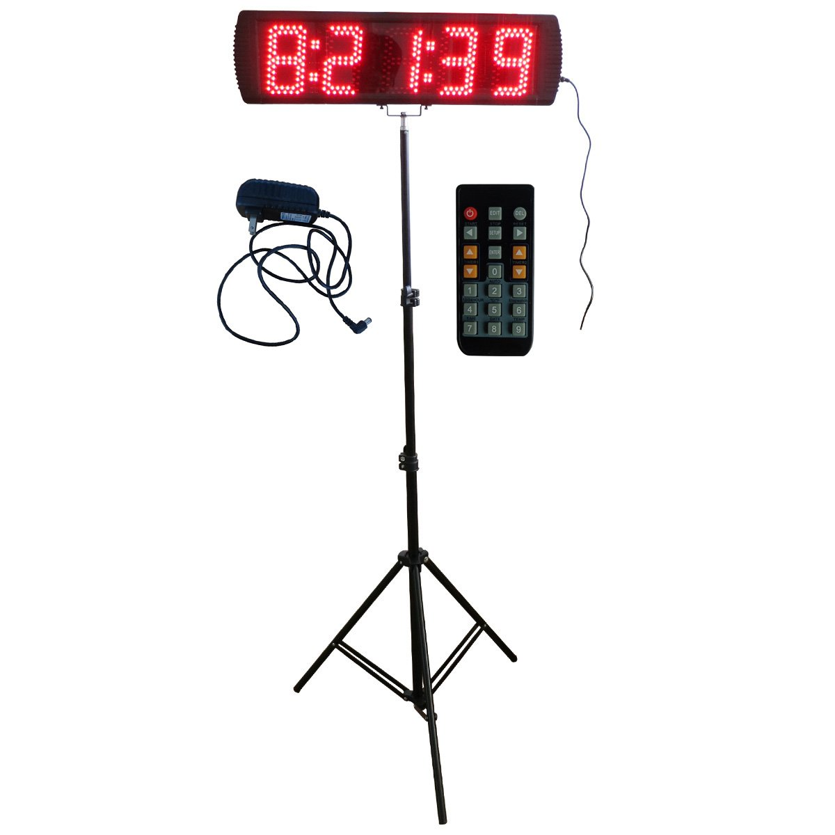 Red Color Portable 5'' 5 Digits LED Race Timing Clock For Running Events