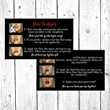 50 How To Apply LipSense by SeneGence Photo Direction Application Cards | Application Instruction Cards | LipSense by SeneGence