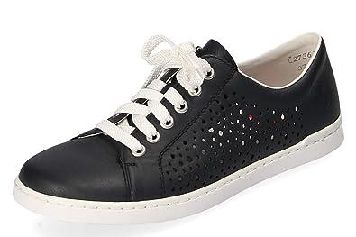 separation shoes 7e51e 7a37b Rieker Damen Komfort Sneaker Low Blau Dunkel Gr. 37: Amazon ...