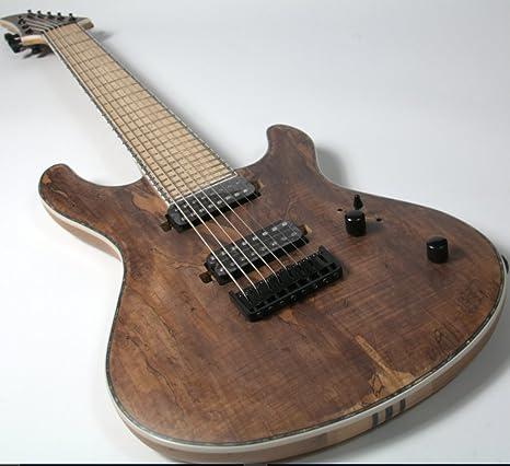 Guitarra eléctrica de 7 cuerdas 2018, 24 trastes, acabado de manchas, arce paleteado