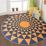 Round Carpet / Door Living Room Floor / Continental Bed Bedside / Computer Chair Hanging Basket Carpet / Study Stairway Facade Blanket ( Size : Diameter 160cm )