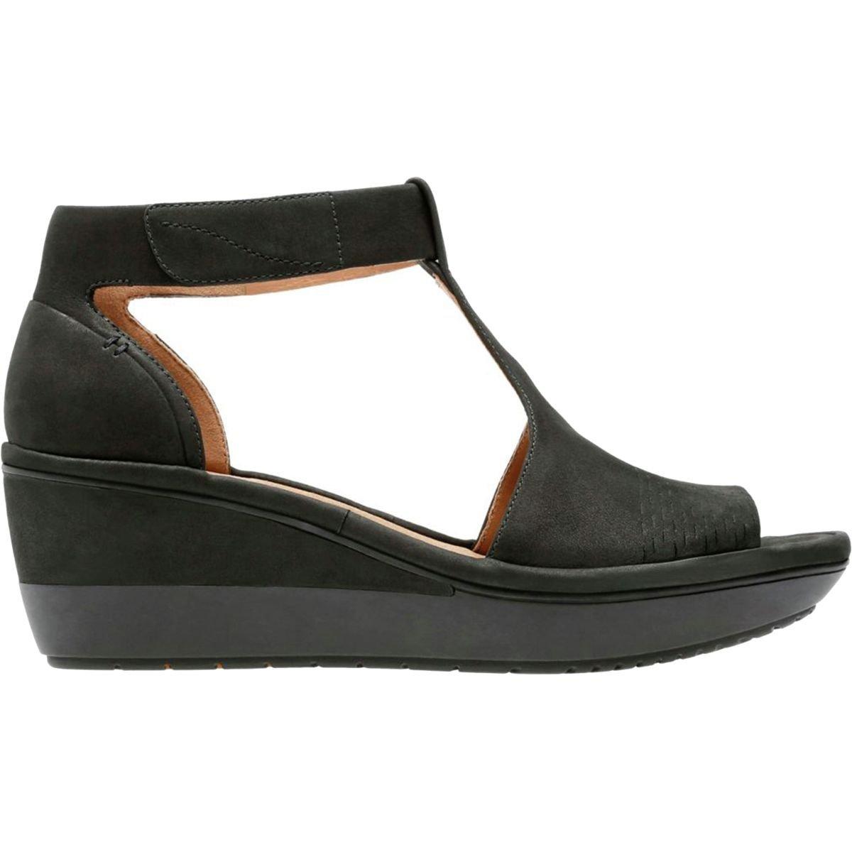 CLARKS Wynnmere Abie Women's Sandal 10 B(M) US Black-Nubuck