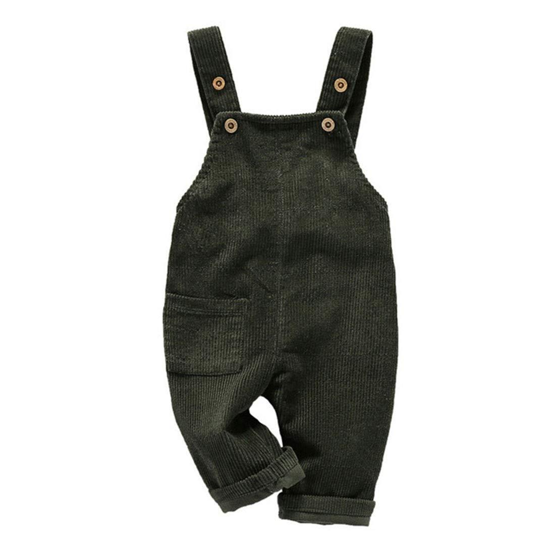 Mornyray Toddler Boy Girl Soft Corduroy Suspender Pants Kids Overalls Retro