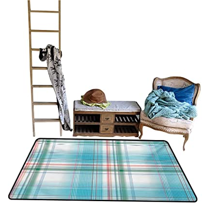 Amazon.com : Hariiuet Dining Room Bedroom Carpet Checkered ...