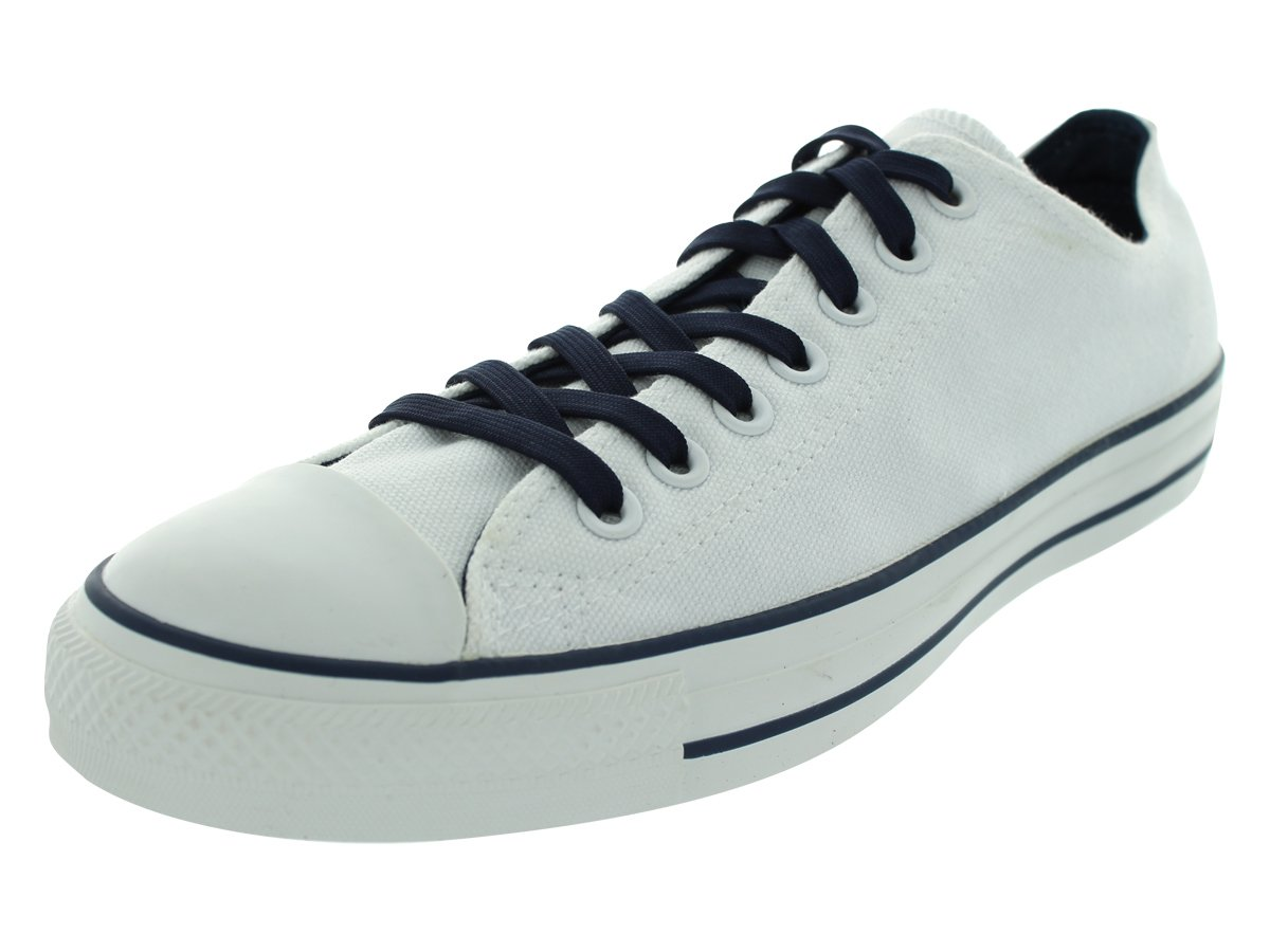 Converse Chuck Taylor Ox White/Dress Blues Low Top Canvas Fashion Sneaker - 15M 13M by Converse