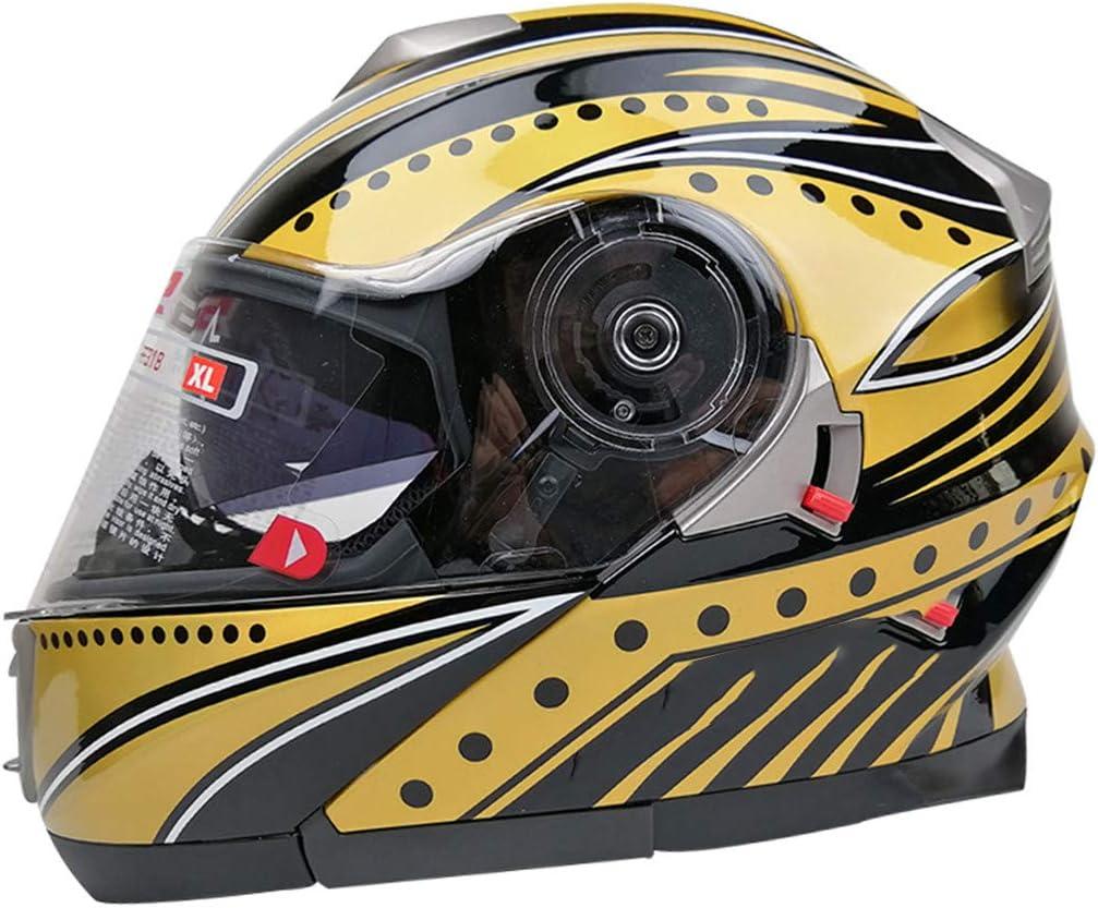Casco Motocicleta Visera Doble Mover hacia Arriba Moto Casco con Escudo Interior Casco Original