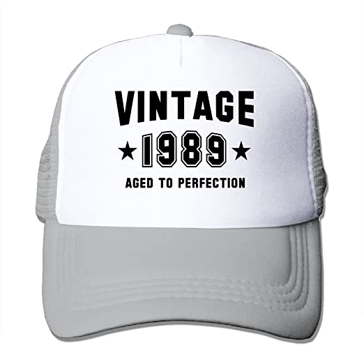 04ee40ea Amazon.com: Unisex Vintage 1989 - Aged to Perfection - Birthday Trucker Cap  Suitable for Indoor Outdoor Activities Ash: Clothing