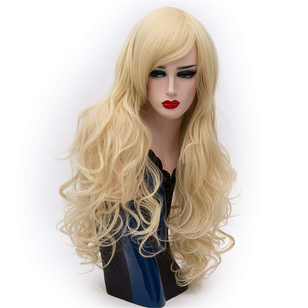 LONGLOVE European and American Wigs European and American Fashion Big Wave Long Curly Hair (Cream Color) by LONG LOVE (Image #1)