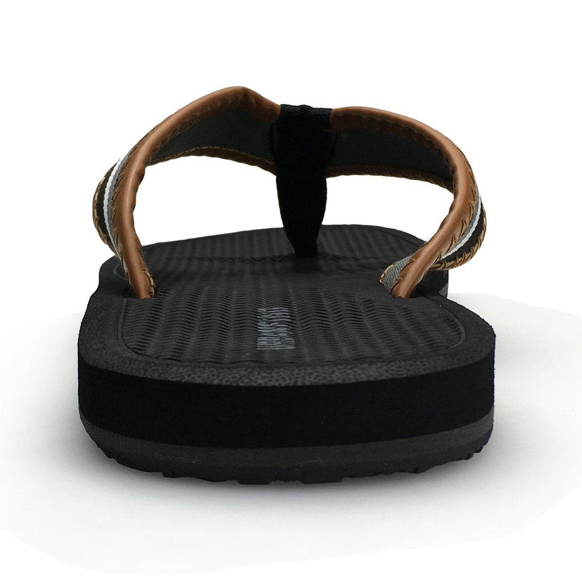URBANFIND Men\' Retro British Style Flip Flops Slippers Black, 8 D(M) US