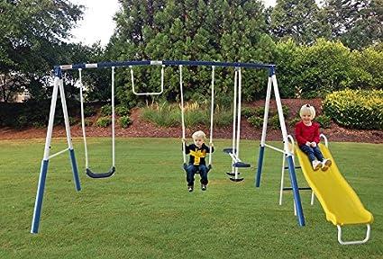 Amazon Com Kids Playground Toddler Swing Set Equipment