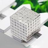 Magnete cubo 216pz mini forte magnete multifunzionale intelligence Develop adatto ufficio ambiente da Whjy, Silver, 0.2*0.2*0.2inch