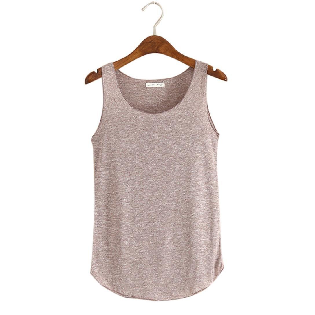 cb051dcc51538d iTLOTL Women Summer Tank-Sleeveless Round Neck Loose Singlets Vest(Free