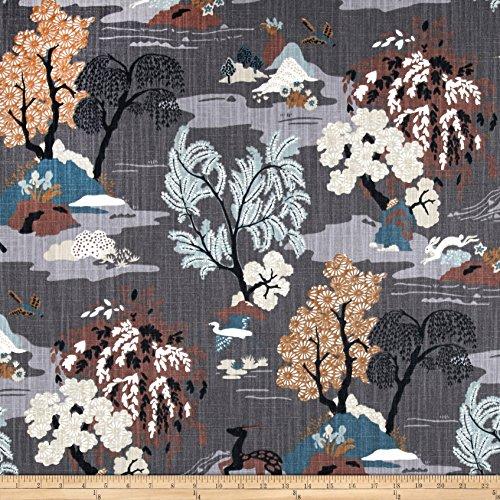 Dwell Studio Modern Toile Fabric, Graphite