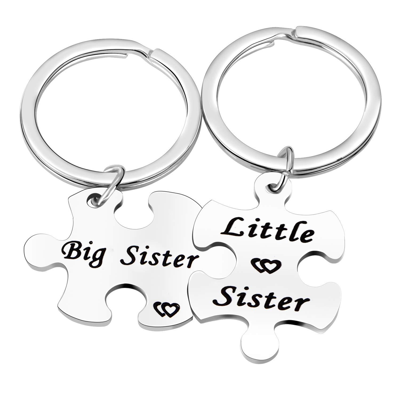 Amazon.com: 2 llaveros con diseño de hermana pequeña para ...