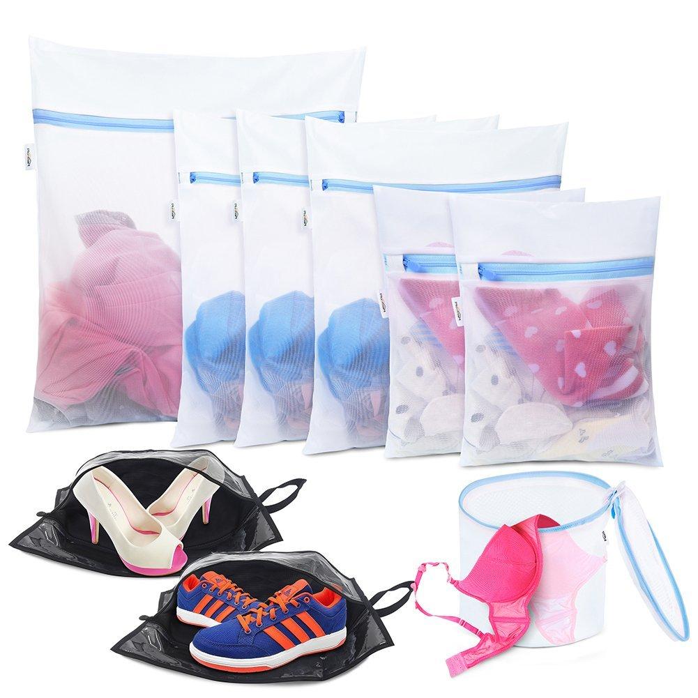 Plusmart Mesh Laundry Bag for Delicates,Shoes Bag,Lingerie Bag for Laundry,Travel Wash Bag,Laundry Garment Bag for Bra,Underwear,Garment,Blouse,Hosiery,Socks,9 Pack