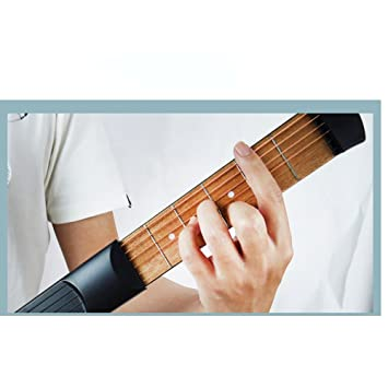 Amazon.com: iWooplus Protable Wooden Pocket Guitar Practice Tool ...