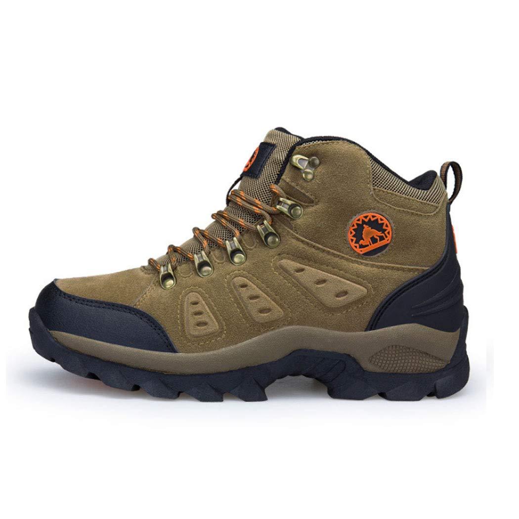 marron 38EU Hommes Chaussure de Sécurité,Chaussures de Randonnée de plein air,Imperméable Lacées Sport paniers Antichoc Antidérapant Chaussures