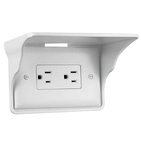 Home & Garden Ultimate Outlet Shelf Easy Installation Wall Outlet Shelf Power Perch Shelf USA