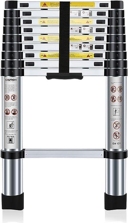 Nestling® 2.9M Escalera Telescópica Multiusos de Aluminio Portátil. Extensión Plegable y Extensible EN131, Carga Máxima 150 kg: Amazon.es: Bricolaje y herramientas
