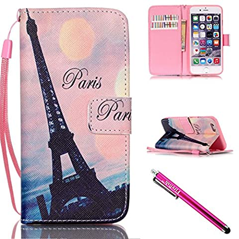 iPhone 5S Case, iPhone 5 Wallet Case, Firefish [Kickstand] [Shock Absorbent] Double Protective Case Flip Folio Slim Magnetic Cover with Wrist Strap for Apple iPhone (Motorola X Clear Cover)