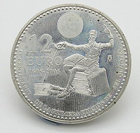 Desconocido Moneda de 12 Euros de Plata Edición de Don Quijote y Sancho Panza del Año 2005: Amazon.es: Juguetes y juegos