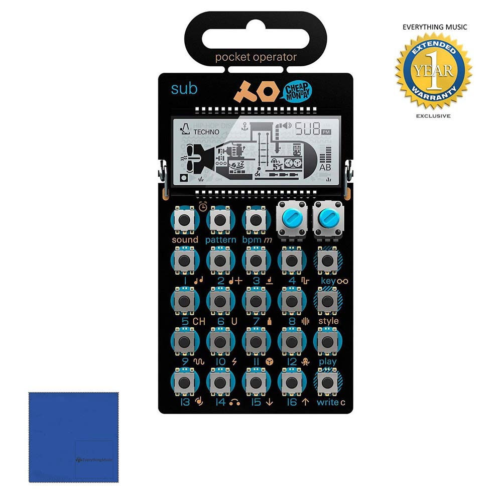 Teenage Engineering PO-14 Sub Pocket Operator with Microfiber and 1 Year Everything Music Extended Warranty by teenage engineering.